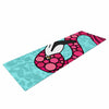 "Art Love Passion ""Pink Flamingos"" Blue Magenta Yoga Mat - KESS InHouse  - 1"