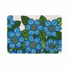 "Art Love Passion ""Blue Flower Field"" Beige Blue Memory Foam Bath Mat - KESS InHouse"