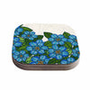 "Art Love Passion ""Blue Flower Field"" Beige Blue Coasters (Set of 4)"