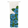 "Art Love Passion ""Blue Flower Field"" Beige Blue Decorative Sheer Curtain - KESS InHouse  - 1"