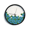 "Art Love Passion ""Blue Flower Field"" Beige Blue Modern Wall Clock"