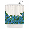 "Art Love Passion ""Blue Flower Field"" Beige Blue Shower Curtain - Outlet Item"