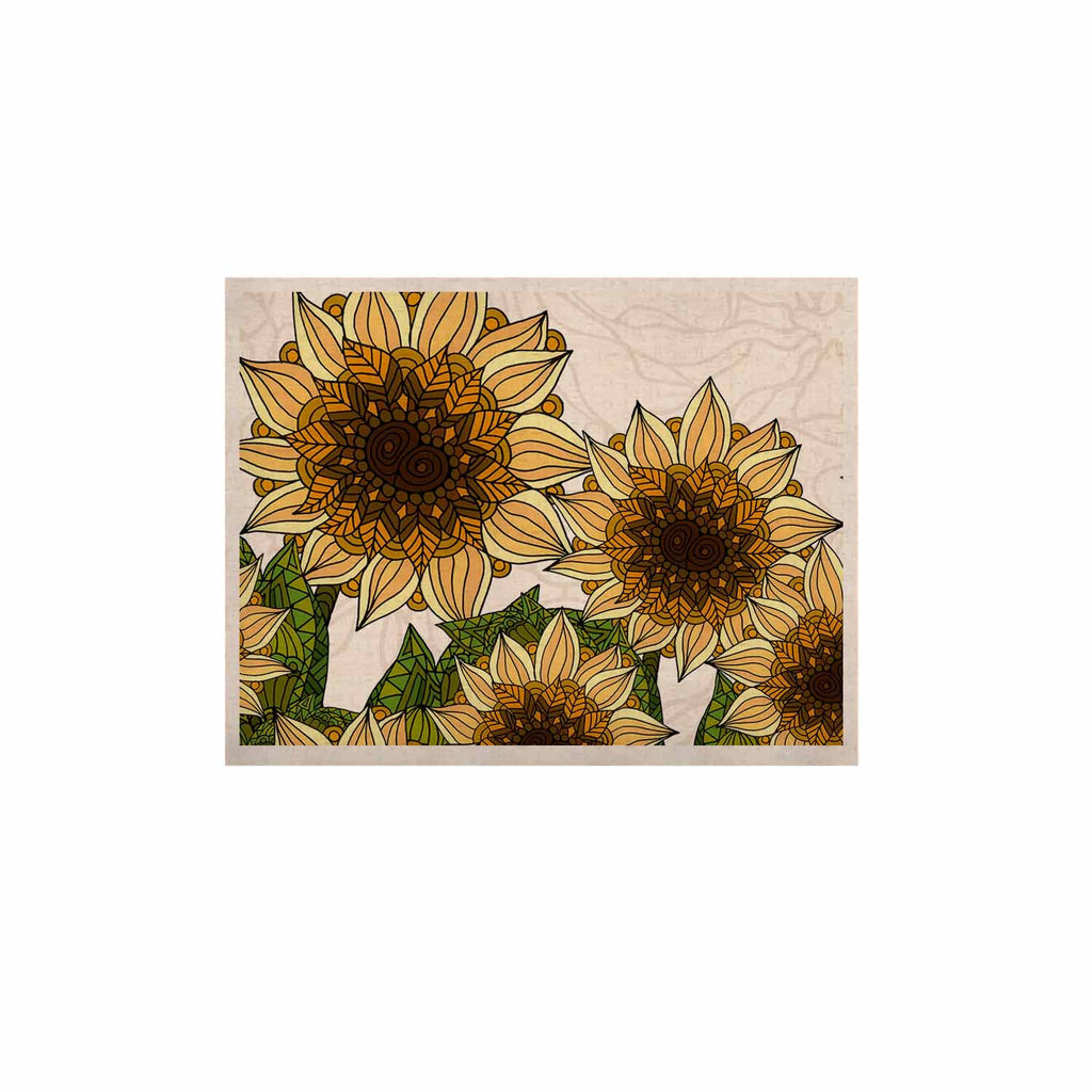 "Art Love Passion ""Sunflower Field"" Beige Yellow KESS Naturals Canvas (Frame not Included) - KESS InHouse  - 1"