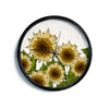 "Art Love Passion ""Sunflower Field"" Beige Yellow Modern Wall Clock"