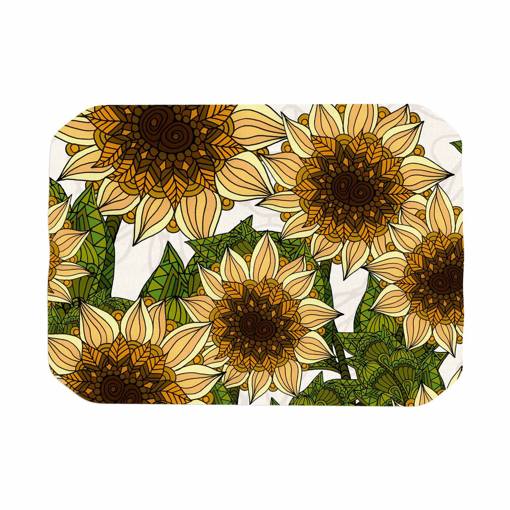 "Art Love Passion ""Sunflower Field"" Beige Yellow Place Mat - KESS InHouse"
