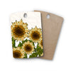 "Art Love Passion ""Sunflower Field"" Beige Yellow Rectangle Wooden Cutting Board"