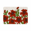 "Art Love Passion ""Poppy Field"" Red Beige Memory Foam Bath Mat - KESS InHouse"