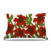 "Art Love Passion ""Poppy Field"" Red Beige Pillow Sham - KESS InHouse  - 1"
