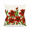 "Art Love Passion ""Poppy Field"" Red Beige Outdoor Throw Pillow - KESS InHouse  - 1"