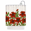 "Art Love Passion ""Poppy Field"" Red Beige Shower Curtain - KESS InHouse"