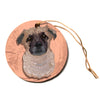 "Art Love Passion ""Mr. Milo"" Brown Beige Circle Holiday Ornament"