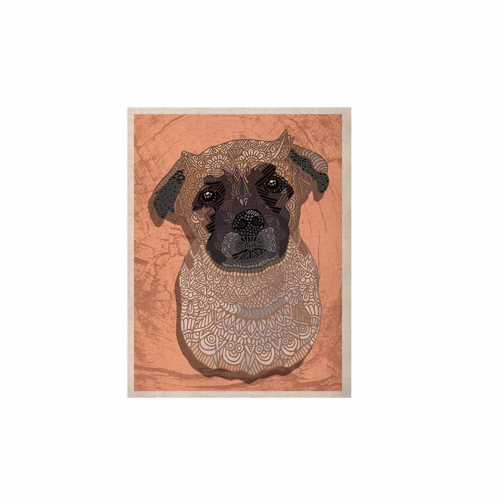 "Art Love Passion ""Mr. Milo"" Brown Beige KESS Naturals Canvas (Frame not Included) - KESS InHouse  - 1"
