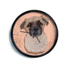 "Art Love Passion ""Mr. Milo"" Brown Beige Modern Wall Clock"