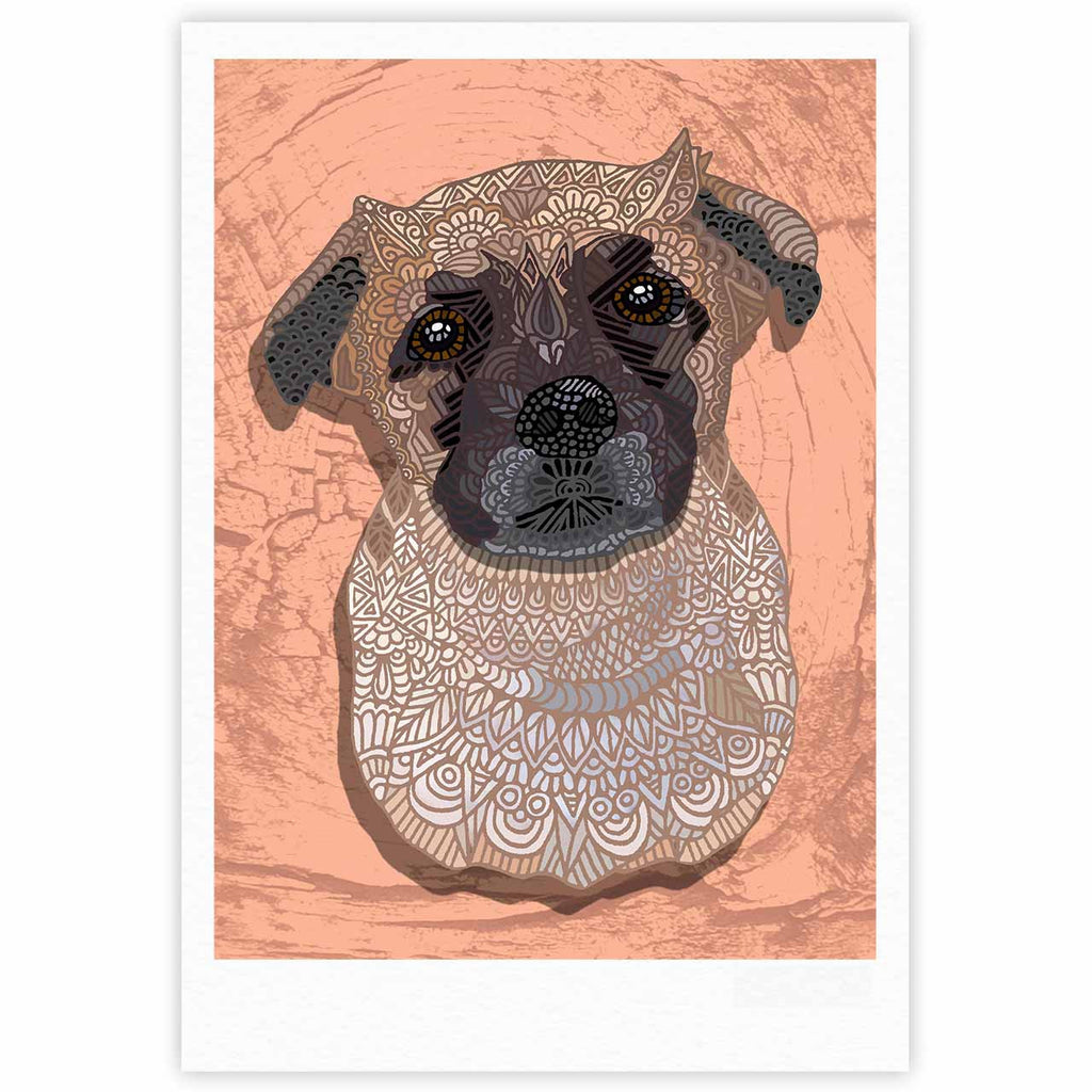 "Art Love Passion ""Mr. Milo"" Brown Beige Fine Art Gallery Print - KESS InHouse"