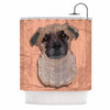 "Art Love Passion ""Mr. Milo"" Brown Beige Shower Curtain - KESS InHouse"