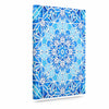 "Art Love Passion ""Star Snowflake"" Blue Aqua Canvas Art - KESS InHouse  - 1"