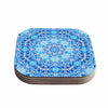 "Art Love Passion ""Star Snowflake"" Blue Aqua Coasters (Set of 4)"