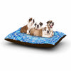 "Art Love Passion ""Star Snowflake"" Blue Aqua Dog Bed - KESS InHouse"