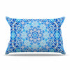 "Art Love Passion ""Star Snowflake"" Blue Aqua Pillow Sham - KESS InHouse  - 1"