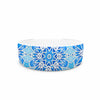 "Art Love Passion ""Star Snowflake"" Blue Aqua Pet Bowl - KESS InHouse"