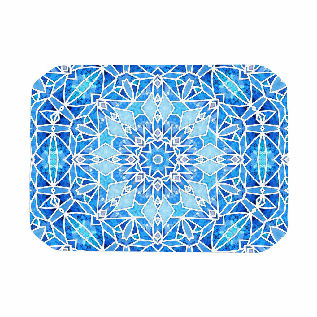 "Art Love Passion ""Star Snowflake"" Blue Aqua Place Mat - KESS InHouse"