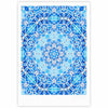 "Art Love Passion ""Star Snowflake"" Blue Aqua Fine Art Gallery Print - KESS InHouse"