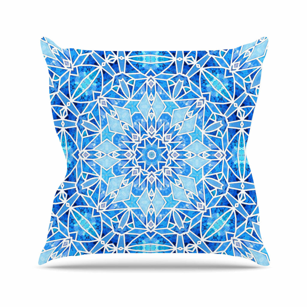 "Art Love Passion ""Star Snowflake"" Blue Aqua Throw Pillow - KESS InHouse"