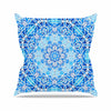 "Art Love Passion ""Star Snowflake"" Blue Aqua Outdoor Throw Pillow - KESS InHouse"