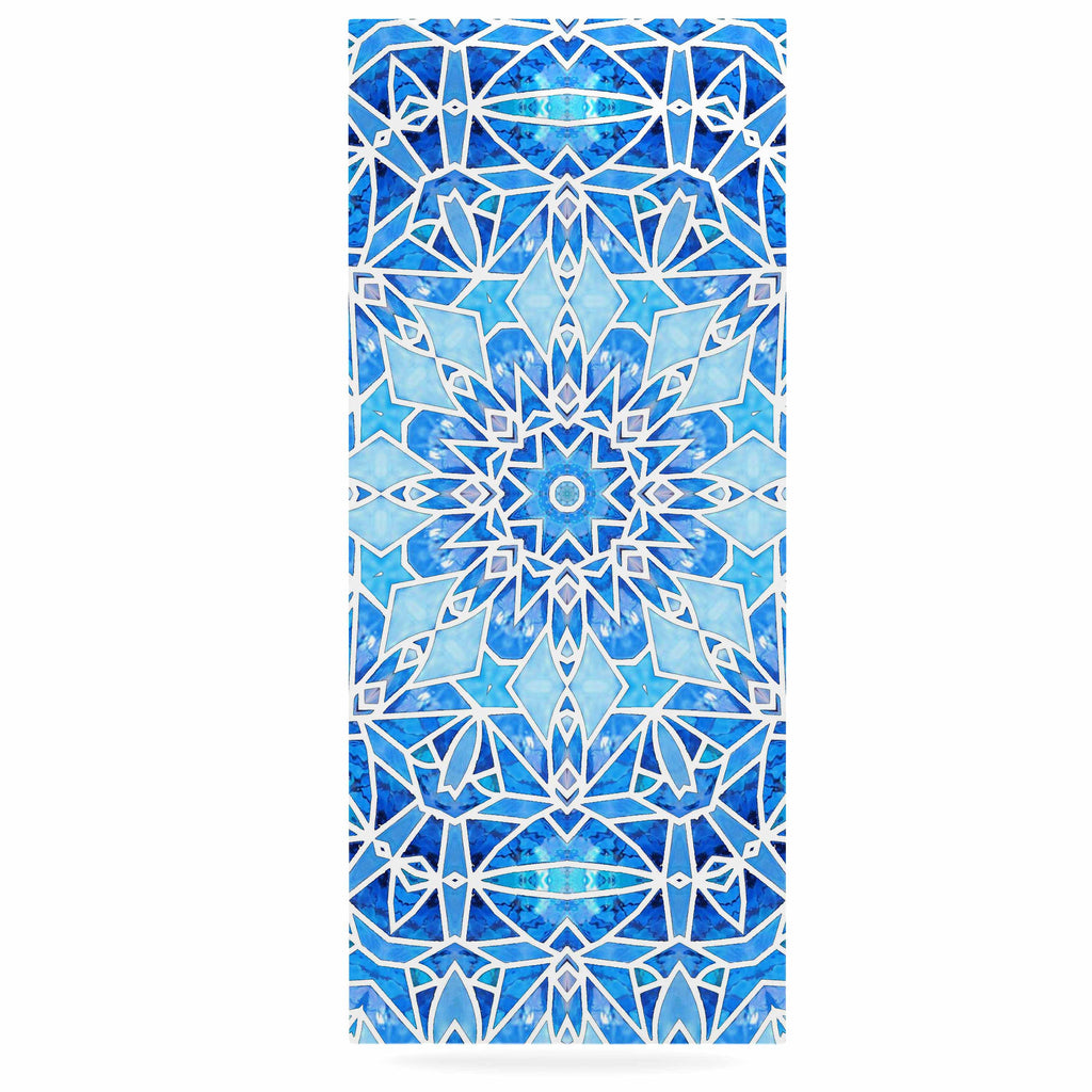 "Art Love Passion ""Star Snowflake"" Blue Aqua Luxe Rectangle Panel - KESS InHouse"