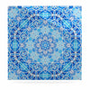 "Art Love Passion ""Star Snowflake"" Blue Aqua Luxe Square Panel - KESS InHouse"