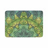 "Art Love Passion ""Fairy Mandala"" Green Yellow Memory Foam Bath Mat - KESS InHouse"