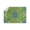 "Art Love Passion ""Fairy Mandala"" Green Yellow Sherpa Blanket - KESS InHouse  - 1"