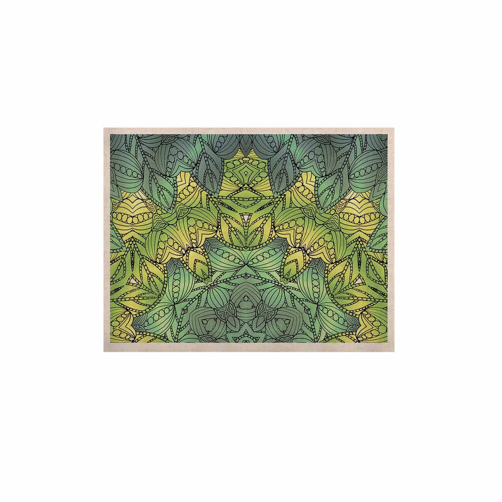 "Art Love Passion ""Fairy Mandala"" Green Yellow KESS Naturals Canvas (Frame not Included) - KESS InHouse  - 1"