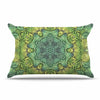 "Art Love Passion ""Fairy Mandala"" Green Yellow Pillow Sham - KESS InHouse  - 1"