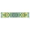 "Art Love Passion ""Fairy Mandala"" Green Yellow Table Runner - KESS InHouse  - 1"