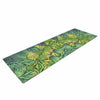 "Art Love Passion ""Fairy Mandala"" Green Yellow Yoga Mat - KESS InHouse  - 1"