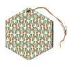 "Art Love Passion ""Little Butterflies""  Hexagon Holiday Ornament"