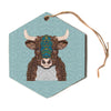 "Art Love Passion ""Bennie - The Bull""  Hexagon Holiday Ornament"