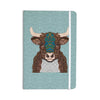 "Art Love Passion ""Bennie - The Bull"" Teal Brown Everything Notebook - KESS InHouse  - 1"