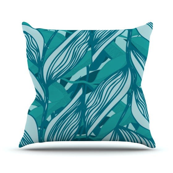 "Anchobee ""Algae"" Throw Pillow - KESS InHouse  - 1"