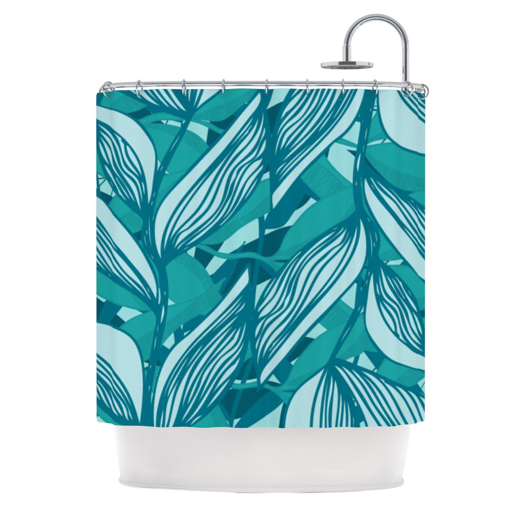 "Anchobee ""Algae"" Shower Curtain - KESS InHouse"