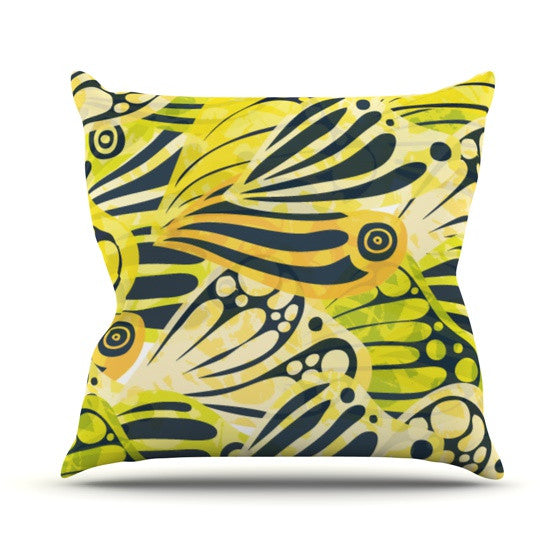 "Anchobee ""Papalote"" Throw Pillow - KESS InHouse  - 1"