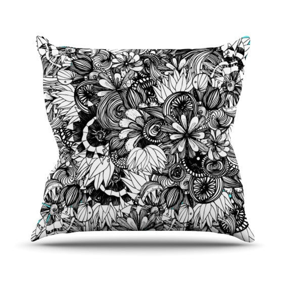 "Anchobee ""Blumen"" Outdoor Throw Pillow - KESS InHouse  - 1"