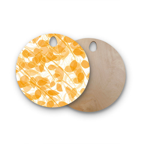 "Anchobee ""Summer"" Round Wooden Cutting Board"