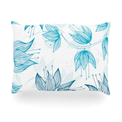 "Anchobee ""Biru Dream"" Oblong Pillow - KESS InHouse"