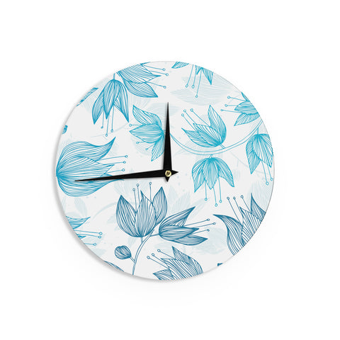 "Anchobee ""Biru Dream"" Wall Clock - KESS InHouse"