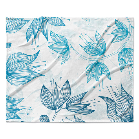 "Anchobee ""Biru Dream"" Fleece Throw Blanket"