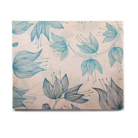 "Anchobee ""Biru Dream"" Birchwood Wall Art - KESS InHouse  - 1"