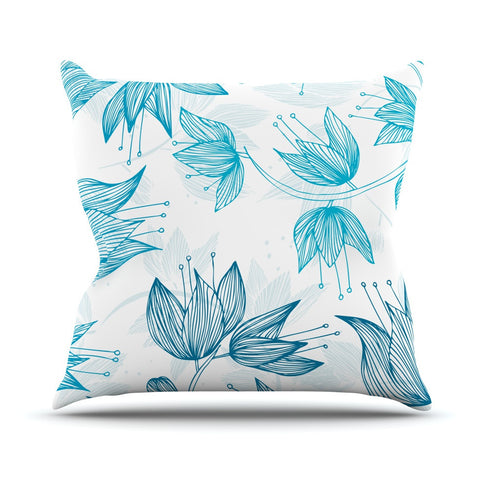 "Anchobee ""Biru Dream"" Outdoor Throw Pillow - KESS InHouse  - 1"