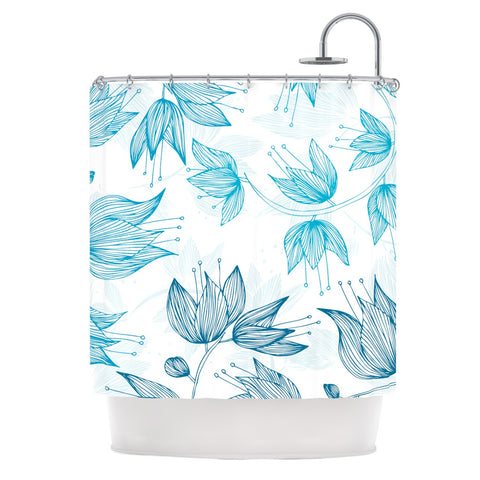 "Anchobee ""Biru Dream"" Shower Curtain - KESS InHouse"